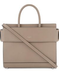 Givenchy | Gray Horizon Small Leather Shoulder Bag | Lyst