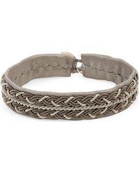 Maria Rudman - Brown Pewter Woven Bracelet - Lyst