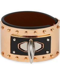 Givenchy   Black Shark Tooth Leather Bracelet   Lyst