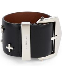 Givenchy | Black Cross Leather Belt | Lyst