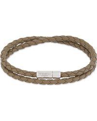 Tateossian - White Double Wrap Leather Bracelet - Lyst