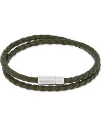 Tateossian | Metallic Leather Double Wrap Bracelet for Men | Lyst