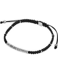 Tateossian - Multicolor Rhodium Macramé Bamboo Bracelet for Men - Lyst