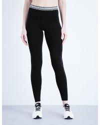 HOT!MESS Black Baziic Cotton-jersey Leggings