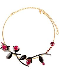 Marni | Black Strass Metal Necklace | Lyst