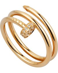 Cartier | Metallic Juste Un Clou 18ct Yellow-gold And Diamond Ring | Lyst
