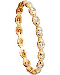 Astley Clarke | Metallic 14ct Yellow Gold Ring With Diamond Drops | Lyst