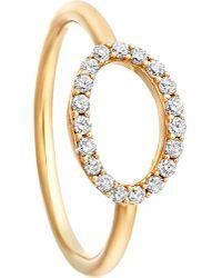 Astley Clarke - Metallic 14ct Yellow Gold Halo Diamond Ring - Lyst