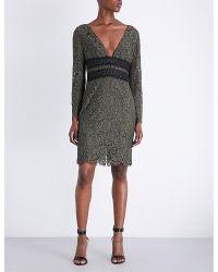 Diane von Furstenberg | Black Viera Long-sleeved Floral-lace Dress | Lyst