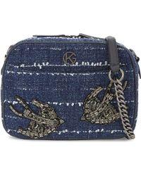 Kurt Geiger | Denim (blue) Tweed Cross-body Bag | Lyst