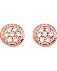 Thomas Sabo | Metallic Glam & Soul Rose Gold-plated And Diamond Studs | Lyst