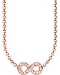 Thomas Sabo | Metallic Glam & Soul Infinity 18ct Rose Gold-plated Diamond Necklace | Lyst