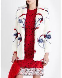 Shrimps - Red Dory Faux-fur Coat - Lyst