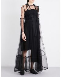 Phoebe English | Black Panelled Tulle Gown | Lyst