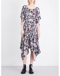 Maje | Multicolor Rimba Crepe Dress | Lyst