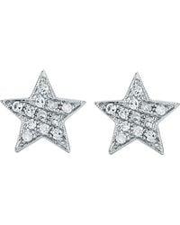 The Alkemistry | Metallic Julianna Himiko 14ct White-gold And Diamond Earrings | Lyst