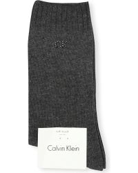 Calvin Klein | Gray Soft Touch Combed Cotton Socks | Lyst