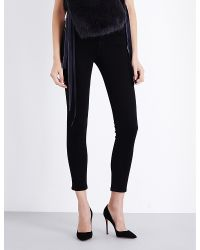 Helmut Lang - Black The Ankle Skinny Mid-rise Jeans - Lyst