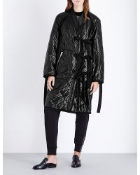 3.1 Phillip Lim - Black Utility Kimono Quilted Coat - Lyst