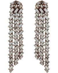 Erickson Beamon - Metallic War Of Roses Rose Gold-plated Crystal Earrings - Lyst