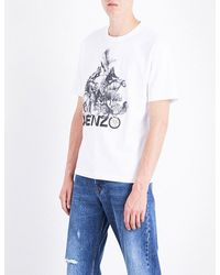 ad697e2c Kenzo Animal Kingdom-print Cotton-jersey T-shirt in White for Men - Lyst