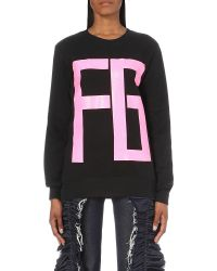 Fyodor Golan - Black Logo-print Cotton-jersey Sweatshirt - Lyst