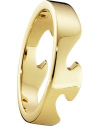 Georg Jensen - Metallic Fusion End 18ct Yellow-gold Ring - Lyst