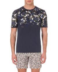 Fendi   Gray Camouflage-print Cotton T-shirt   Lyst
