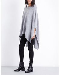 Theory | Multicolor Wool And Cashmere-blend Cape | Lyst