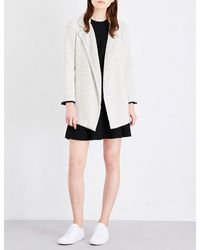 Theory | Black Clairene Tweed Jacket | Lyst