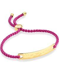 Monica Vinader - Red Havana 18 Carat Rose Gold Plated Vermeil Friendship Bracelet - Lyst