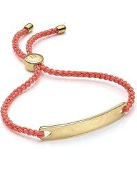 Monica Vinader | Metallic Havana 18ct Gold-plated Friendship Bracelet | Lyst