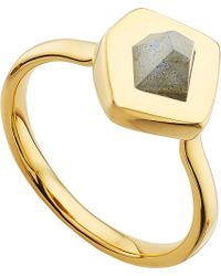 Monica Vinader | Metallic Petra Gold-plated Labradorite Stacking Ring | Lyst