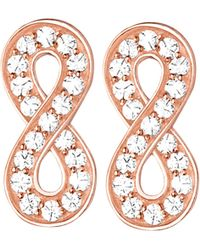 Thomas Sabo - Pink Glam & Soul Infinity 18ct Rose Gold-plated And Zirconia Earrings - Lyst