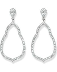 Thomas Sabo | Metallic Fatima's Garden Sterling Silver And White Pavé Zirconia Drop Earrings | Lyst