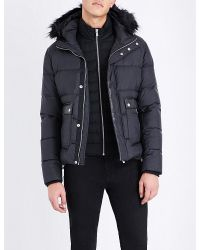 The Kooples - Black Quilted Faux-fur And Wool-blend Jacket for Men - Lyst