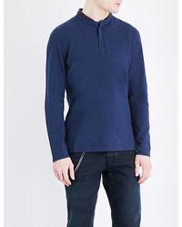 The Kooples - Blue Cotton-piqué Polo Shirt for Men - Lyst