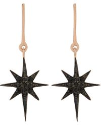Aamaya By Priyanka | Shooting Star 18ct Rose Gold-plated And Black Onyx Drop Earrings | Lyst