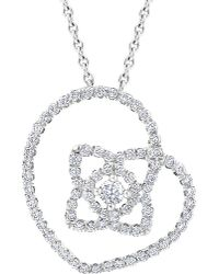 De Beers - Multicolor Enchanted Lotus 18ct White-gold And Diamond Pendant - Lyst