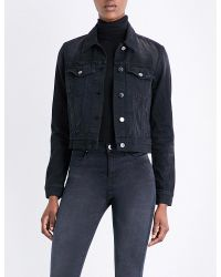 J Brand | Blue Harlow Denim Jacket | Lyst