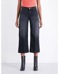 J Brand | Blue Liza Regular-fit Straight Mid-rise Culottes | Lyst