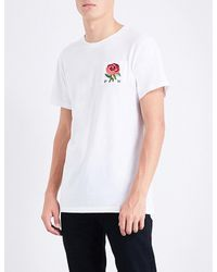 Kent & Curwen - White Rose 1926 Cotton T-shirt for Men - Lyst