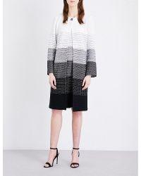 St. John | Multicolor Degradé-pattern Tweed Coat | Lyst