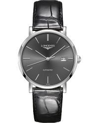 Longines - Gray L4.910.4.72.2 Elegant Stainless Steel And Alligator-leather Watch for Men - Lyst