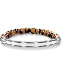 Thomas Sabo - Black Love Bridge Tiger's Eye And Silver Bracelet - Lyst