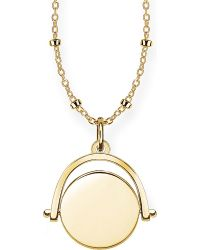 Thomas Sabo | 18ct Yellow Gold Spinning Coin Engravable Necklace | Lyst