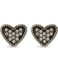 Marc Jacobs - Metallic Coin Heart Stud Earrings - Lyst
