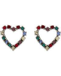 Marc Jacobs - Blue Rainbow Heart Stud Earrings - Lyst