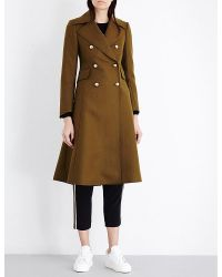 Mo&co. | Multicolor Double-breasted Wool-blend Coat | Lyst