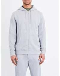 Sunspel | Gray Zip-up Loopback Cotton-jersey Hoody for Men | Lyst